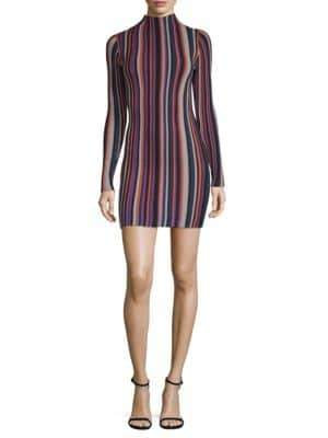 Ronny Kobo Jessica Striped Mini Dress