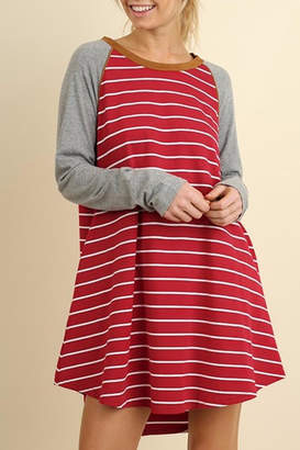 Umgee USA Striped T Shirt Dress