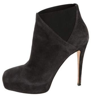 Brian Atwood Suede Platform Ankle Booties