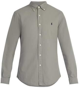 Polo Ralph Lauren Logo Embroidered Slim Fit Cotton Shirt - Mens - Grey