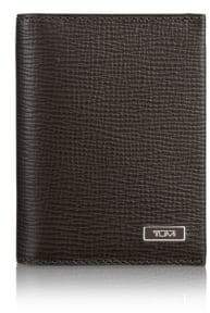 Tumi Gusset Leather Card Case
