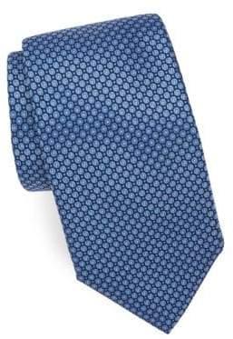 Corneliani Bullseye-Print Silk Tie