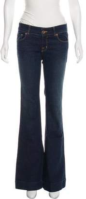 J Brand Low-Rise Bell-Bottom Jeans W/ Tags
