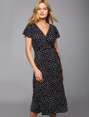 A Pea in the Pod Pull Down Dot Nursing Dress