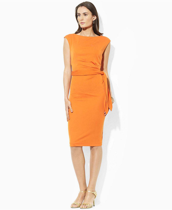 Lauren by Ralph Lauren Dress, Vona Short Sleeve Sheath