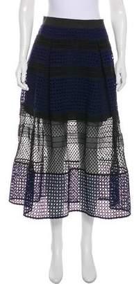 Self-Portrait Colorblock Lace Skirt