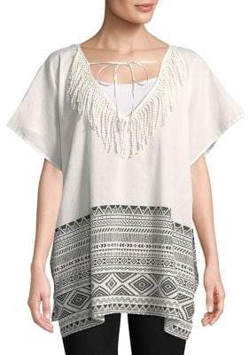 Lord & Taylor Graphic Cotton Tunic