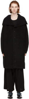Yohji Yamamoto Black Big Button-Up Cardigan