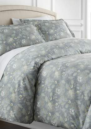 SOUTHSHORE FINE LINENS King/California King Sized Luxury Premium Oversized Comforter Sets - Infinite Blossom Blue