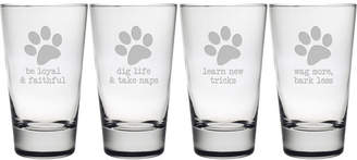 Susquehanna Glass Dog Wisdom Hiball Glass