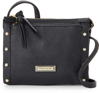 Tahari Black Pearls Mini Crossbody