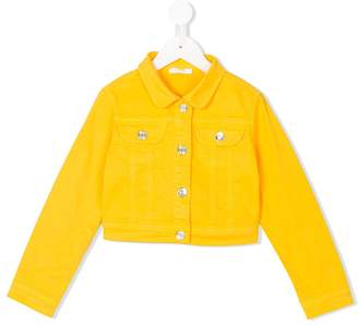 Liu Jo Kids flap-pocket jacket