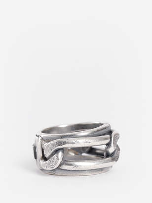 Goti SILVER CHAIN DOUBLE RING