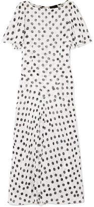 De La Vali - Olivia Ruffled Polka-dot Fil Coupé Chiffon Maxi Dress - Cream