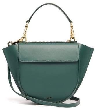 Hortensia Wandler Mini Leather Cross Body Bag - Womens - Dark Green
