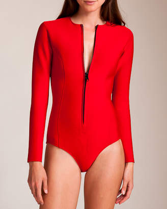 Lisa Marie Fernandez Swimwear Neoprene Farrah Long Sleeve Swimsuit