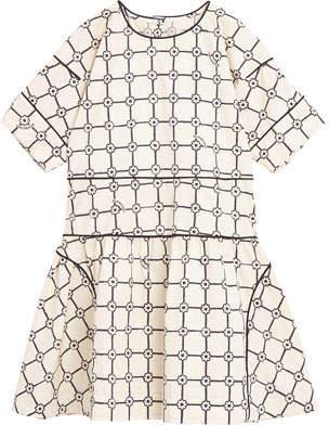 Burberry Cici Floral Plaid Short-Sleeve Dress, Size 3-14