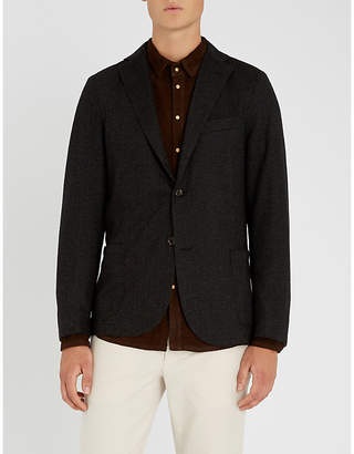 Eleventy Regular-fit wool and cotton-blend jacket