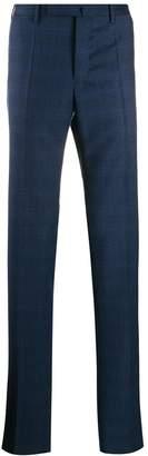 Incotex casual tartan trousers