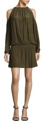 Ramy Brook Lauren Cold-Shoulder Dress $395 thestylecure.com