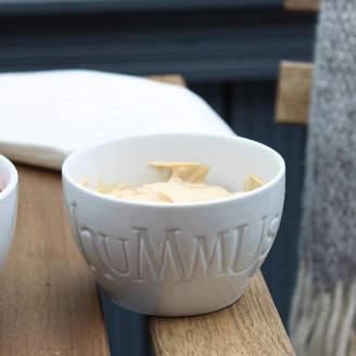 Marquis & Dawe White Ceramic Hummus Bowl Gift Boxed