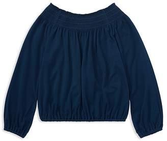 Polo Ralph Lauren Girls' Shirred Jersey Top - Little Kid