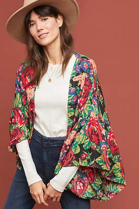 Anthropologie Painterly Florals Kimono