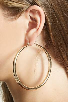 FOREVER 21+ Chunky Drop Hoop Earrings $5.90 thestylecure.com