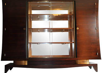 One Kings Lane Vintage 1930s French Art Deco Macassar Cabinet - Something Vintage