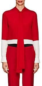 Derek Lam Women's Colorblocked Silk Blouse - Red White