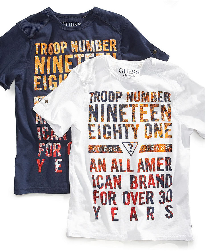 GUESS T-Shirt, Little Boys Troop Number 1981 Tee