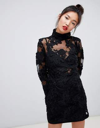 Daisy Street high neck mini dress in lace