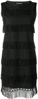 Alberta Ferretti fringed mini dress