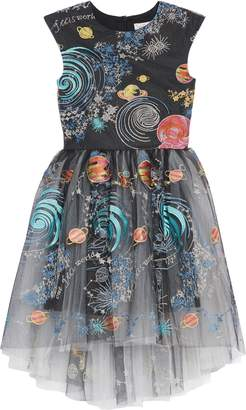 Halabaloo Celestial Embroidered High/Low Dress