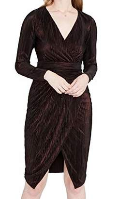 Rachel Roy Women's Ribbed Knit Faux Wrap Dress