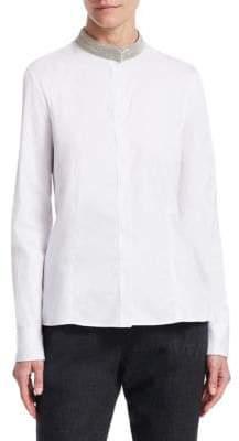 Fabiana Filippi Brilliant Collar Shirt
