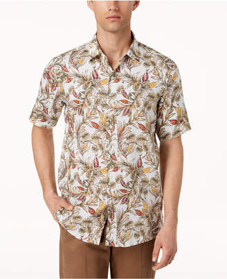 Tasso Elba Men's Ketema Flora-Print Shirt, Created for Macy's