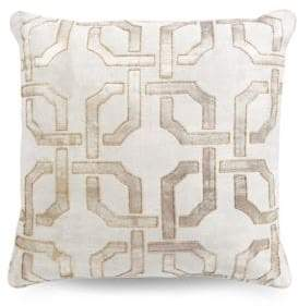 Hotel Collection Fresco Geo-Print Square Cushion