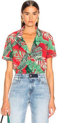 RtA Flynn Top in Red Tropical Print | FWRD