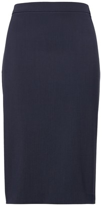 Banana Republic Washable Italian Wool-Blend Pencil Skirt with Side Slit