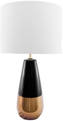 nuLoom 25In Harper Ceramic Linen Shade Table Lamp