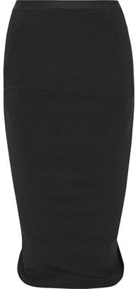 Rick Owens - Pillar Stretch Cotton-blend Skirt - Black $515 thestylecure.com