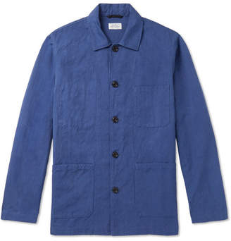 Hartford Jobson Cotton And Linen-Blend Canvas Chore Jacket