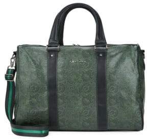 Robert Graham Paisley-Print Faux Leather Duffle Bag