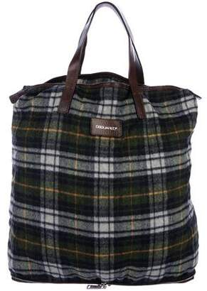DSQUARED2 Packable Leather-Trimmed Tote