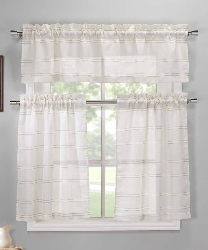 White Maui Three-Piece Valance Set