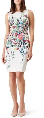 HOBBS LONDON Fiona Floral Print Dress $295 thestylecure.com