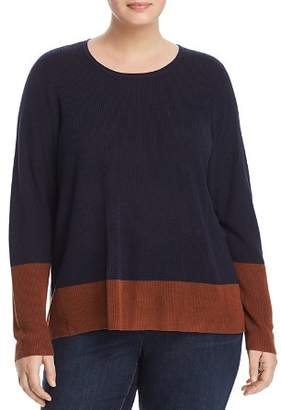 Eileen Fisher Plus Color-Block Sweater