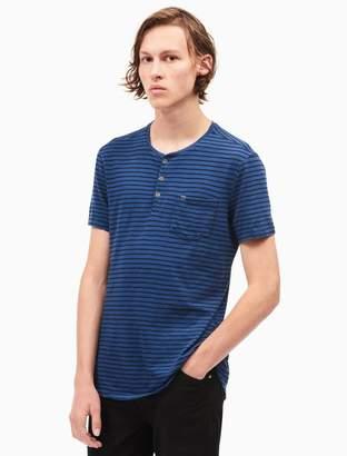 Calvin Klein slim fit striped pocket henley