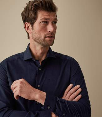 Reiss Our last order date for Christmas has now passed MANNING CORDUROY SHIRT Navy